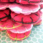3x Multi Pack Wool Pink Felt Rounde..