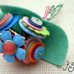 Hippy Happy Button Flowers Bouquet