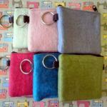 5x Multi Pack Wool Felt Coin Purse