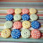 20x 12mm Garden Mix Spotty Buttons