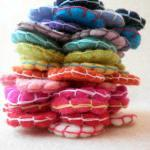50x 8cm Stitched Wool Felt Flowers