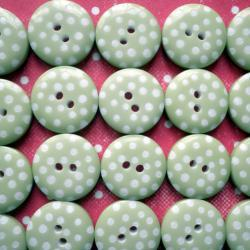 100x 12mm Jumbo Pack Lime Green Spotty Buttons