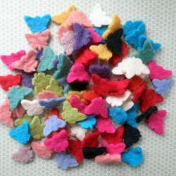 Multi Pack Mini Butterfly Wool Felt Shapes