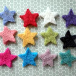 50x Multi Pack Mini Stars Wool Felt Shapes