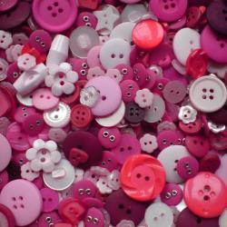 250g Bag of Bubblegum Pink Buttons