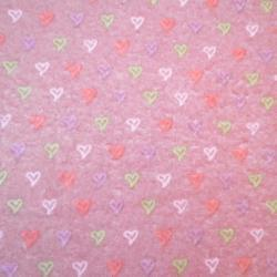 Half Meter Red Love Hearts Acrylic Felt