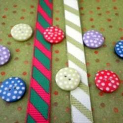 Lime Dotty Felt, Ribbon & Spotty Button Bundle