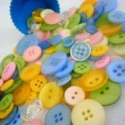 75g Spring Easter Egg Buttons
